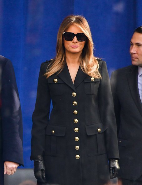 First Lady Melania Trump attends the Veterans Day Parade in Madison Square Park in New York City. | Photo: Getty Images