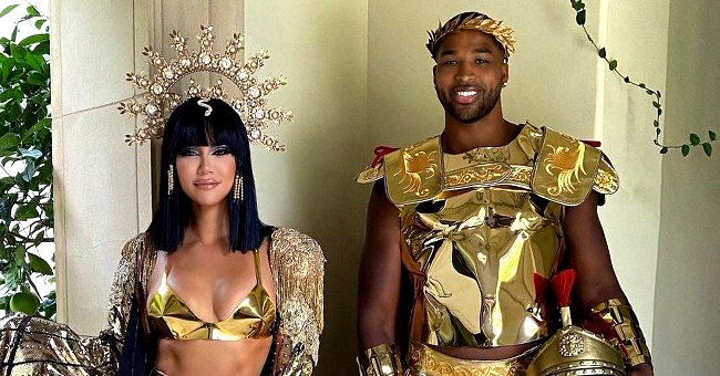 Khloé Kardashian, Tristan Thompson & True Nailed It Dressed as Egyptian Royalty in Amazing Pic