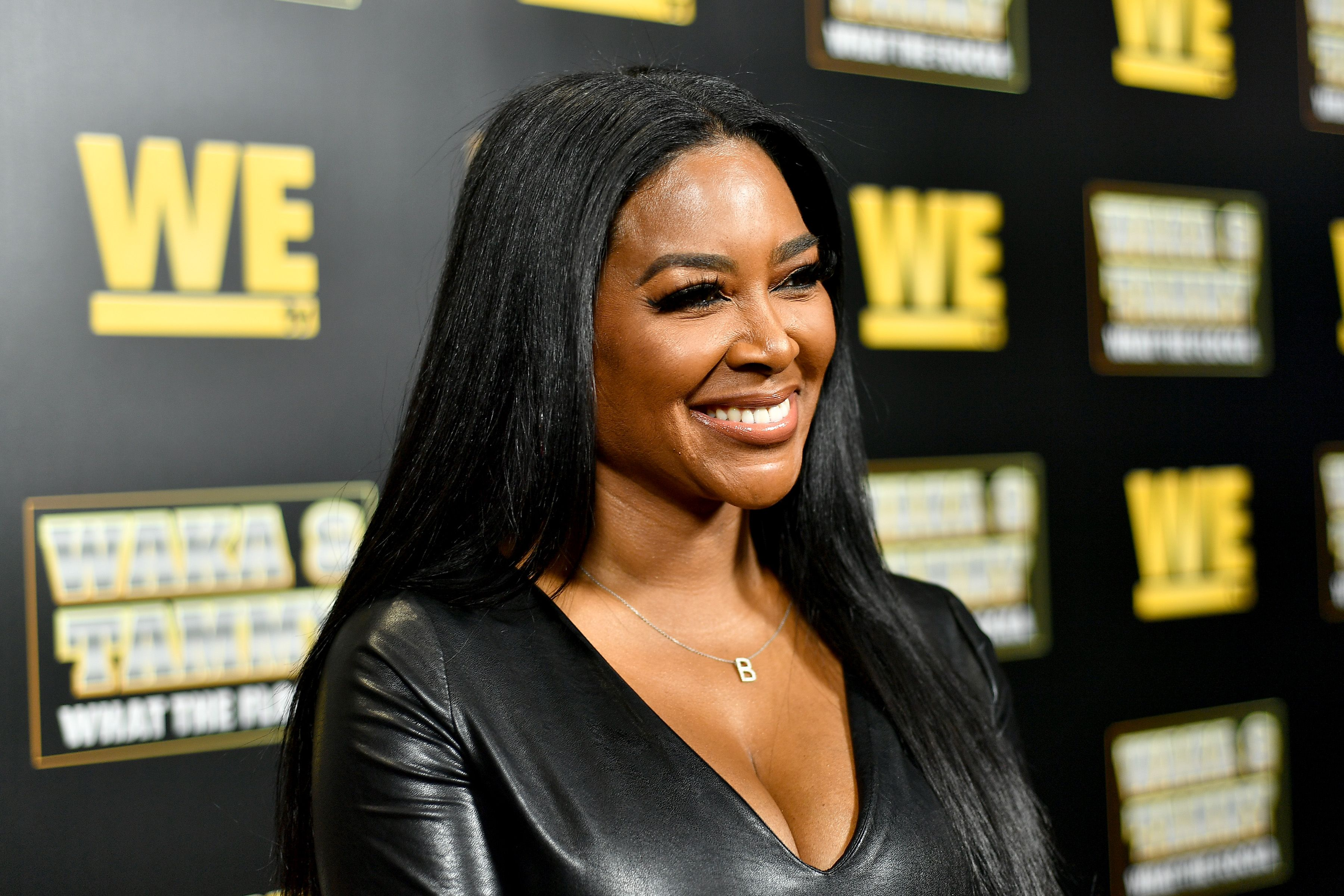 """Kenya Moore at the premiere of """"Waka & Tammy: What The Flocka"""" at Republic on March 10, 2020 