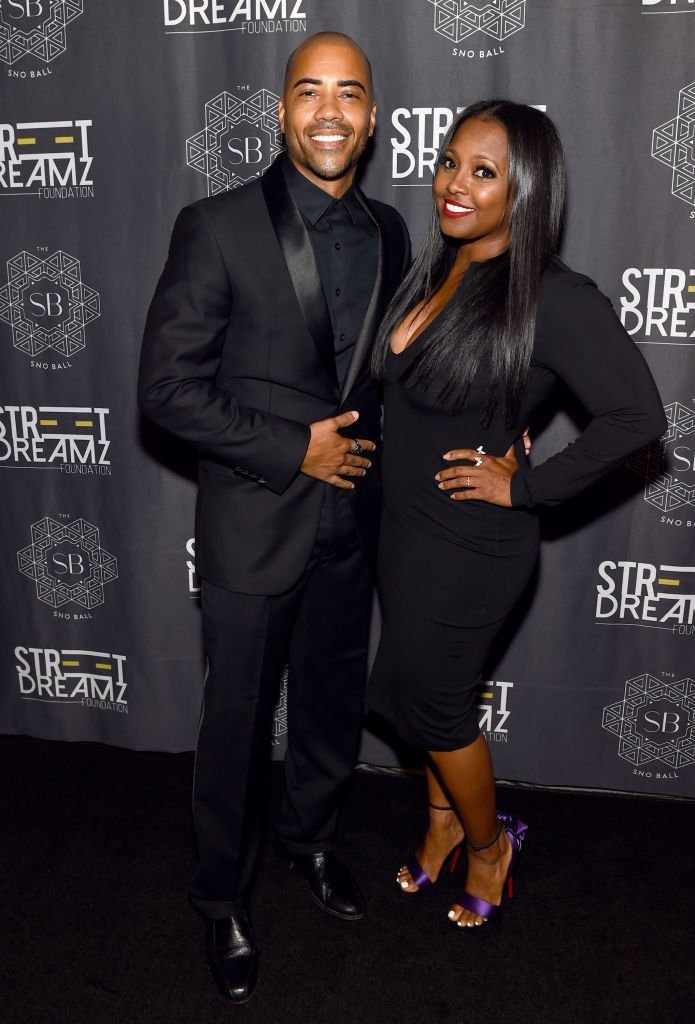 """Brad James and Keshia Knight Pulliam at Jeezy's inaugural """"SnoBall"""" on August 22, 2019. 