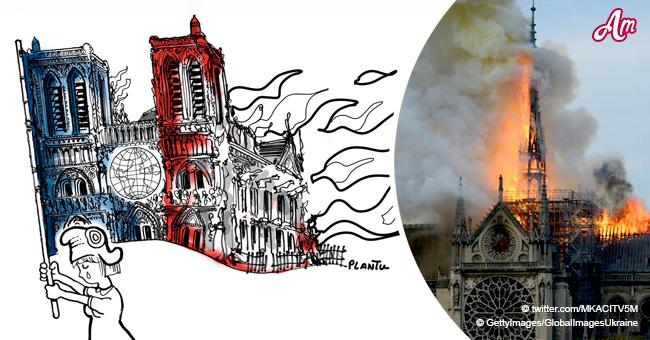 Notre-Dame : le peuple rend hommage à la cathédrale incendiée avec des illustrations poignantes