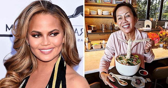 John Legend's Wife Chrissy Teigen Wishes Her Mom Vilailuck a Happy Birthday with a Gorgeous Noodle Bowl Cake