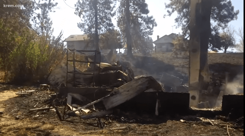 The Graham's home was detroyed in the fire | Source: YouTube/KREM 2 News