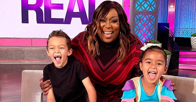 Loni Love Is All Smiles in Photo with Tamera Mowry and Adam Housley's Children on Set of 'The Real'