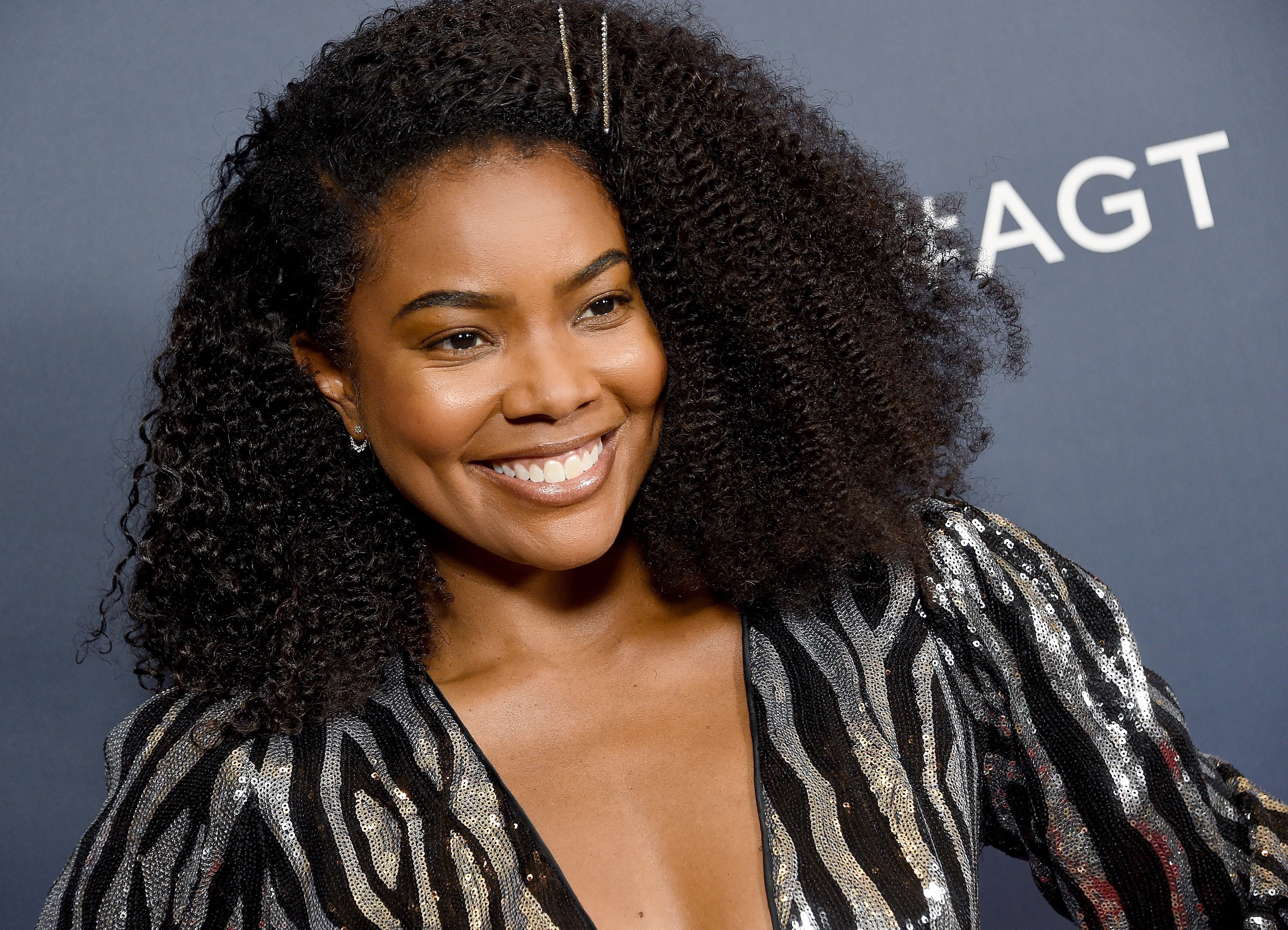 """Gabrielle Union at the red carpet for the live show of """"America's Got Talent"""" on September 10, 2019. 