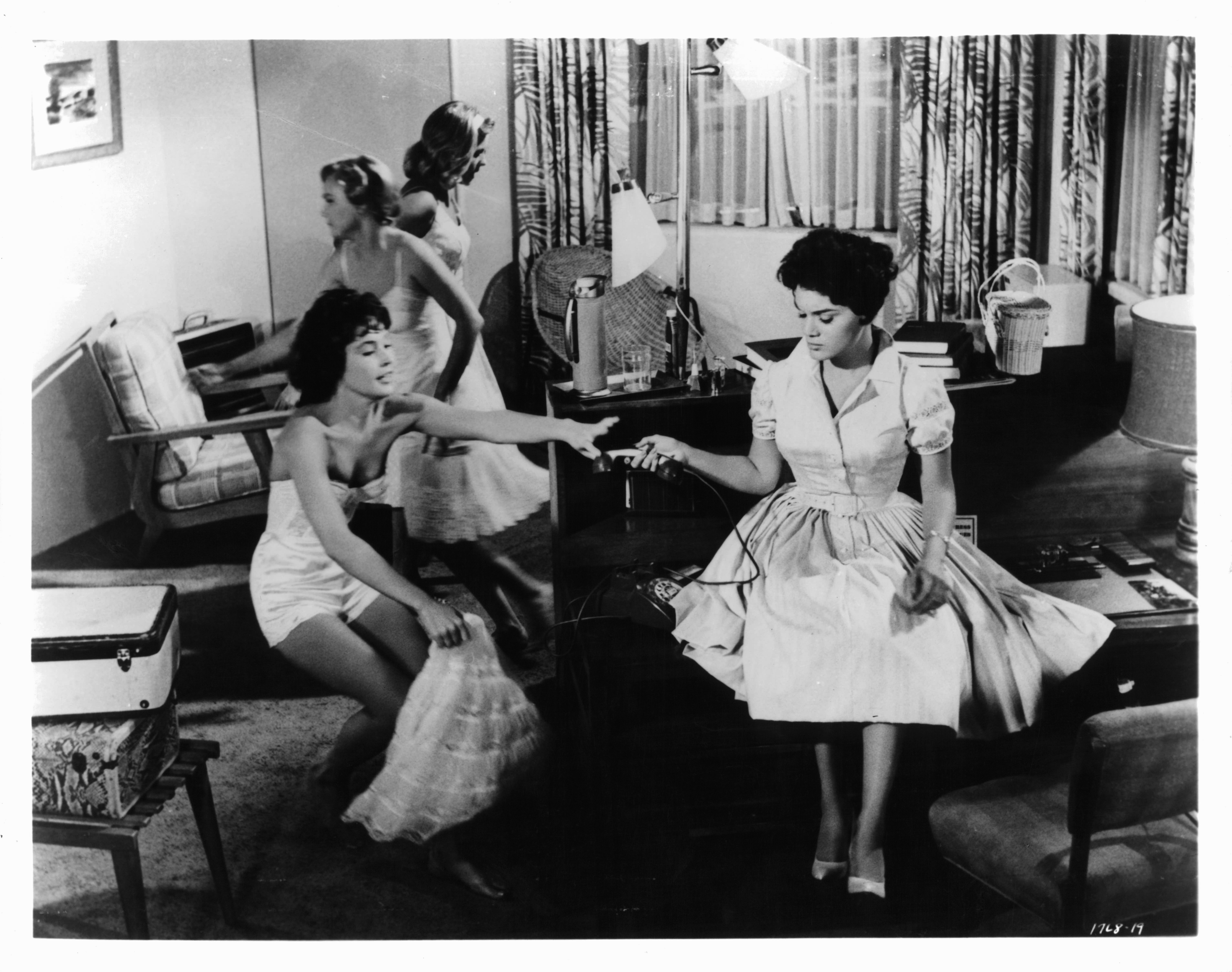 """Connie Francis on the set of """"Where The Boys Are"""" , 1960   Photo: Getty Images"""