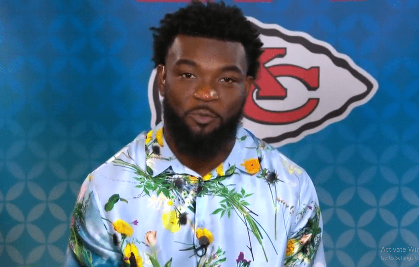 Damien Williams on an interview about Kansas City Chief's Super Bowl win in February 2020. | Photo: YouTube/CBS This Morning