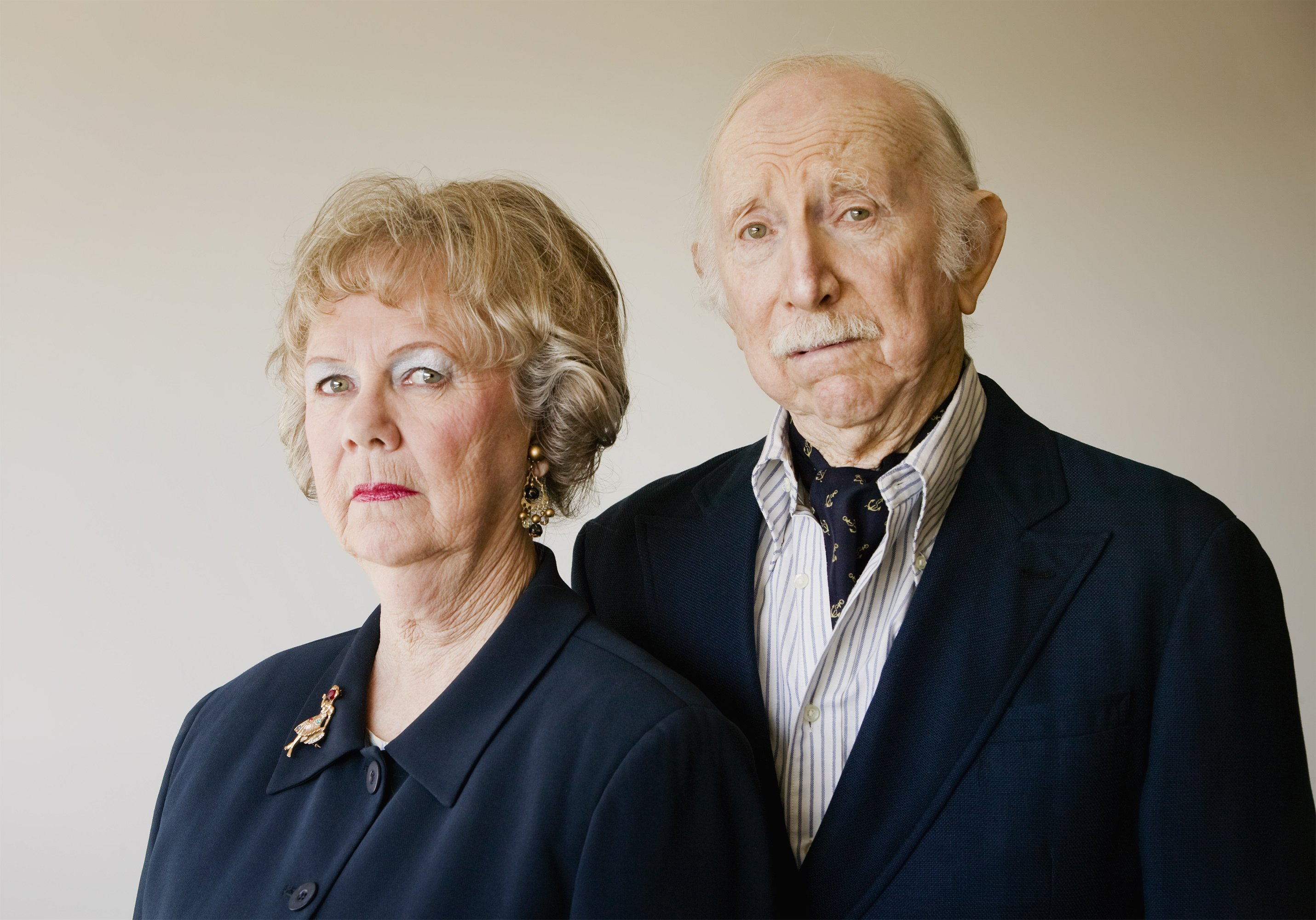 Angry grandparents neatly dressed. | Source: Shutterstock.