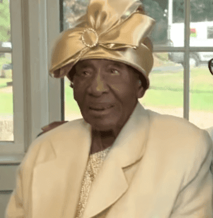 Willie Mae Hardy at her 111th birthday party | Source: YouTube/11Alive