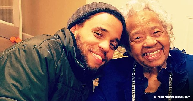 Michael Ealy glows with happiness in photo with his aunt Hattie on her 100th birthday