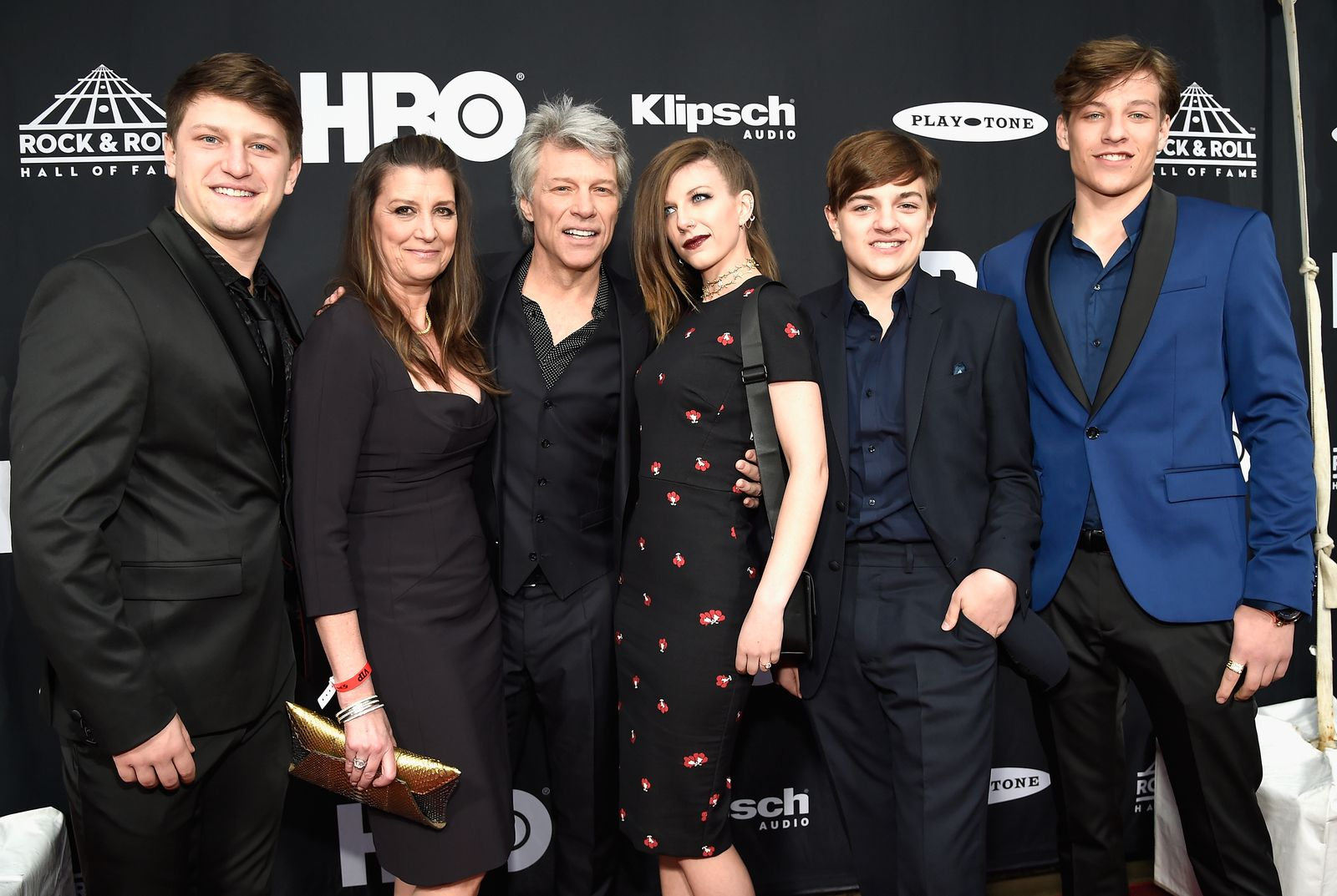 Jon Bon Jovi and family attend the 33rd Annual Rock & Roll Hall of Fame Induction Ceremony at Public Auditorium on April 14, 2018 in Cleveland, Ohio.   Photo: Getty Images