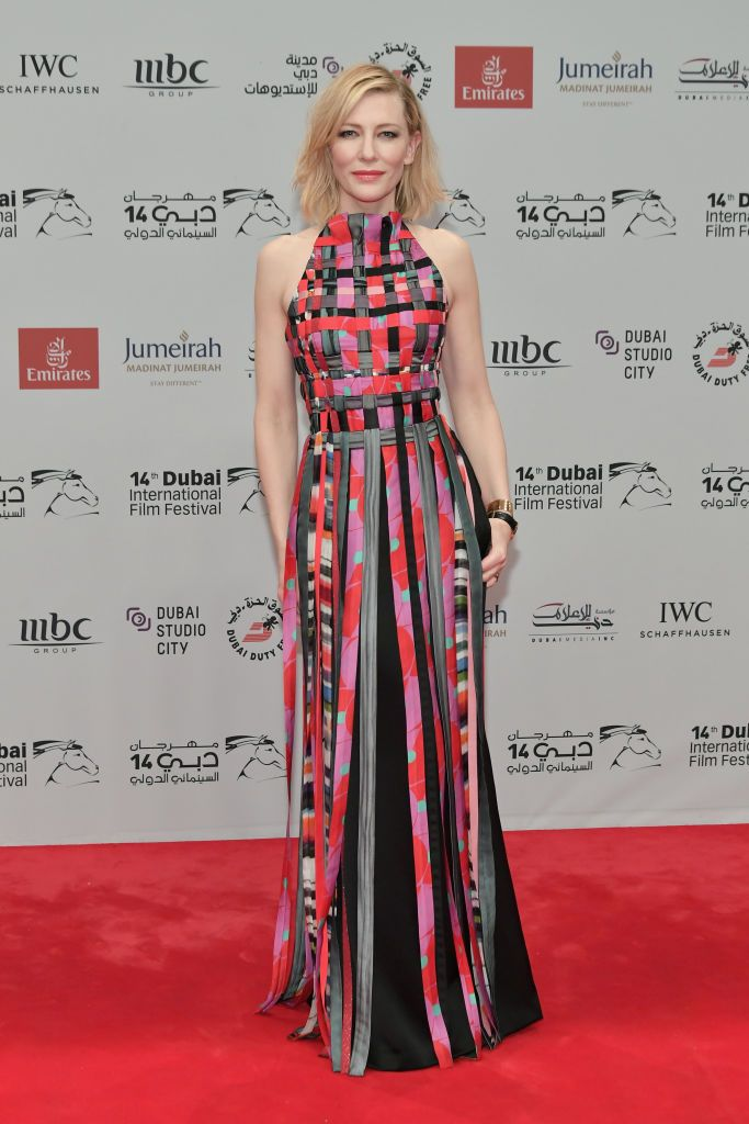 Cate Blanchett at the Opening Night Gala of the 14th annual Dubai International Film Festival in 2017 in Dubai | Source: Getty Image