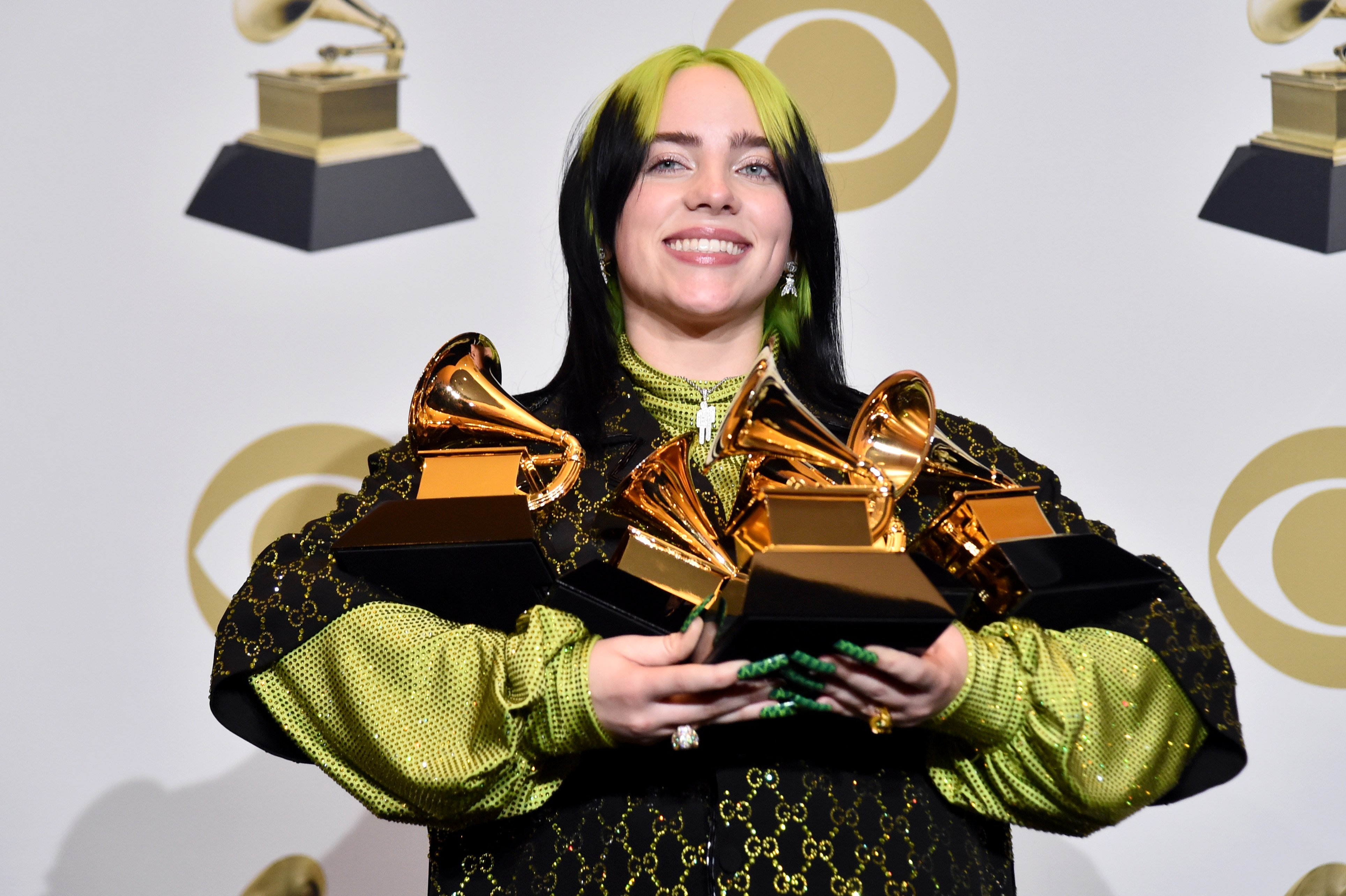 Billie Eilish in the press room during the 62nd Annual GRAMMY Awards at STAPLES Center on January 26, 2020 | Photo: GettyImages