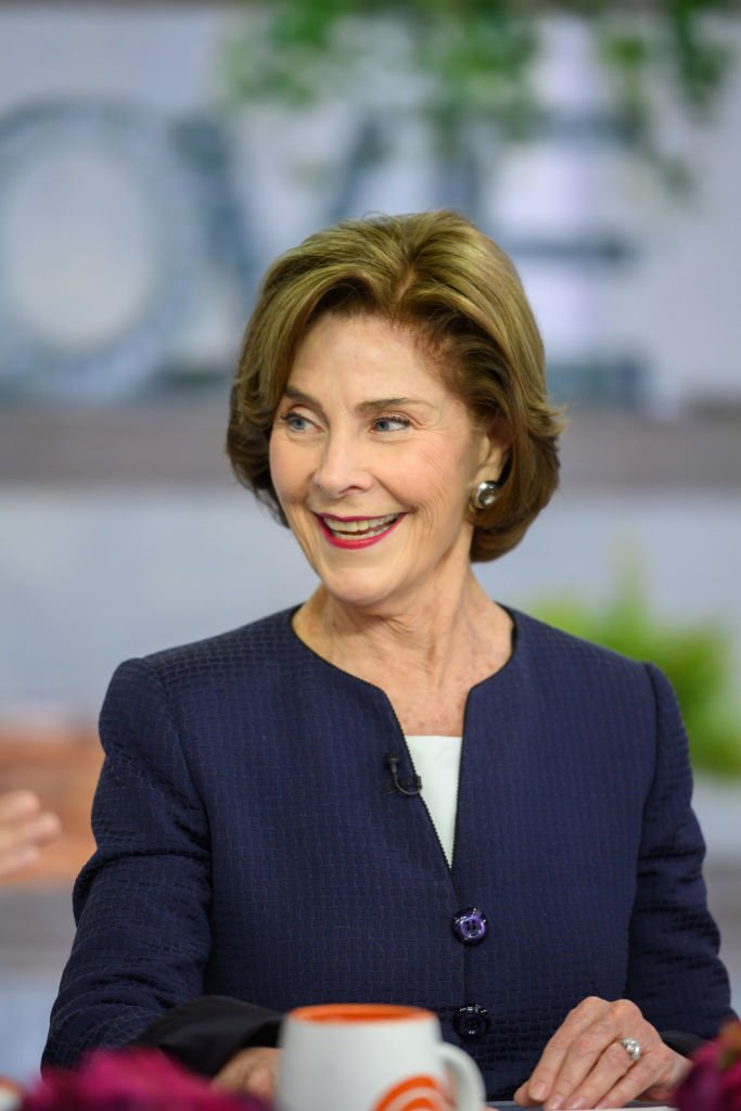 Former First Lady Laura Bush made an appearance on the set of TODAY on Friday, May 3, 2019. | Photo: Getty Images