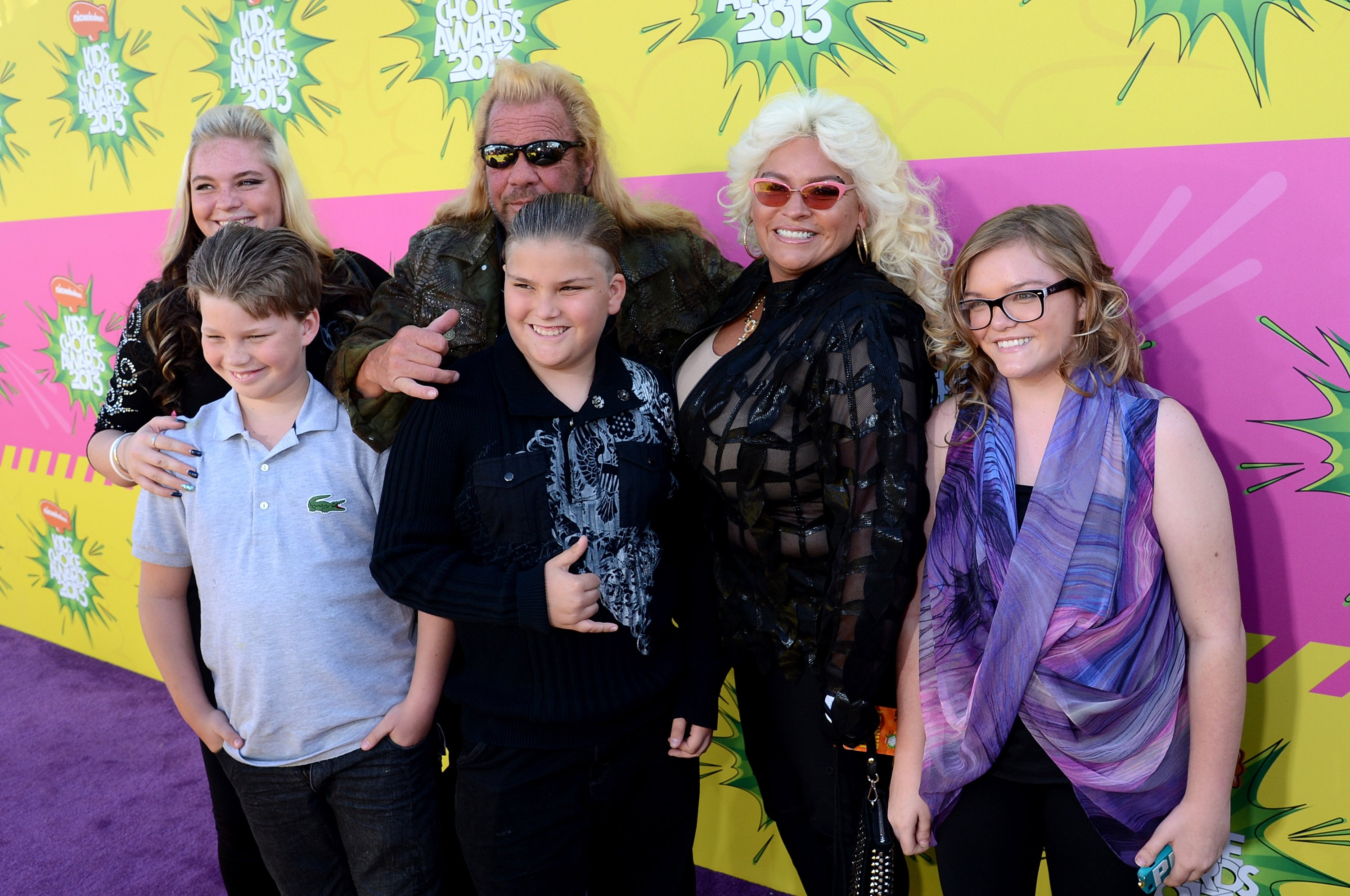 TV personality Duane 'Dog' Chapman (C) and family arrive Nickelodeon's 26th Annual Kids' Choice Awards at USC Galen Center on March 23, 2013 in Los Angeles, California.| Source: Getty Images