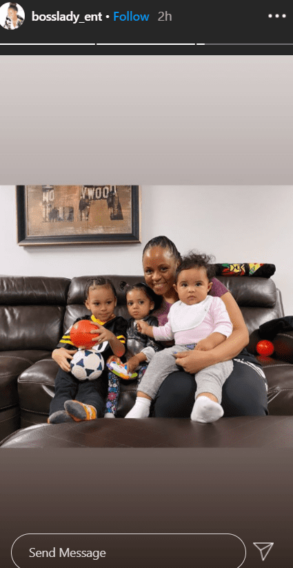 Shante Broadus poses with her grandkids. | Source: Instagram/bosslady_ent
