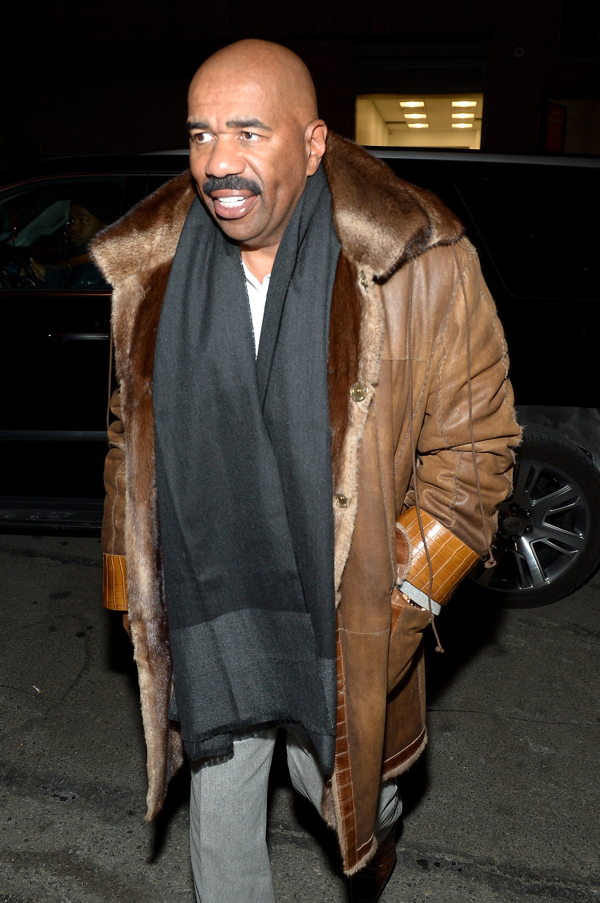 Steve Harvey attends day 4 of New York Fashion Week in New York City on February 14, 2016 | Photo: Getty Images
