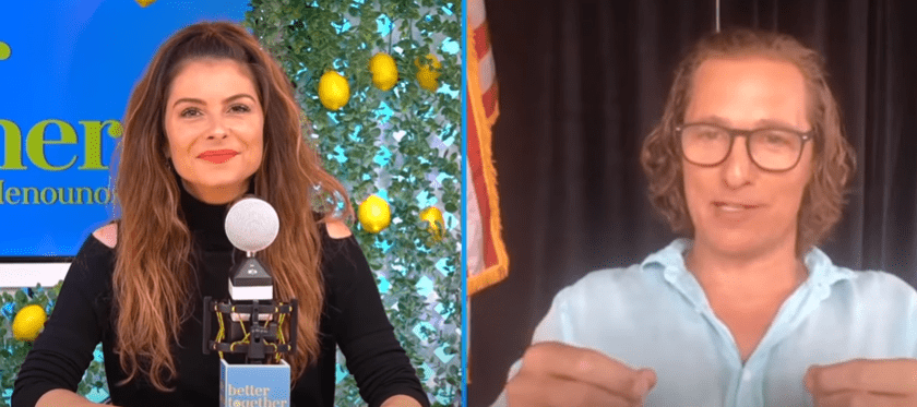 """Matthew McConaughey appearing on the """"Better Together"""" podcast, on January 12, 2021. 