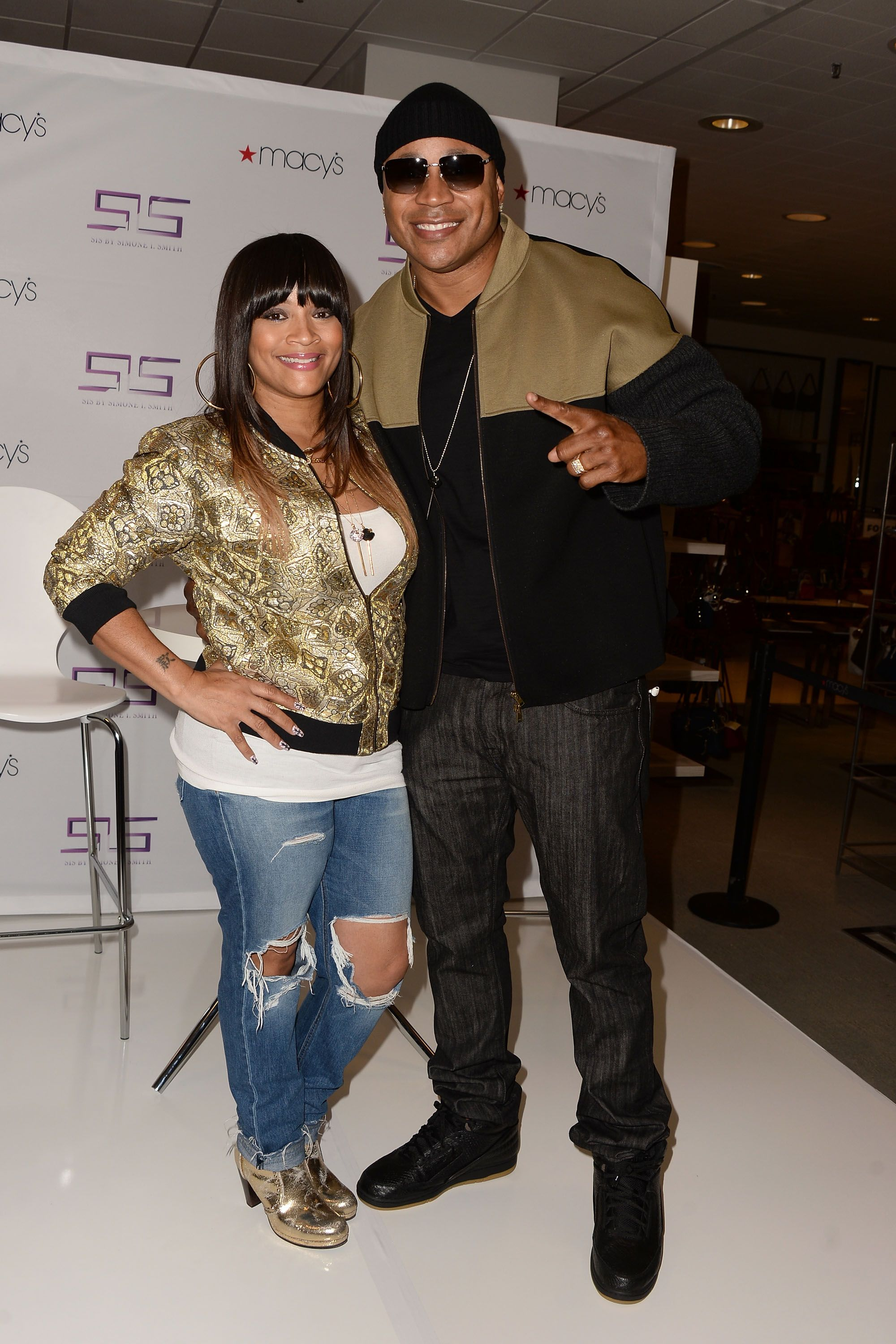 Simone I. Smith and rapper/actor LL Cool J at Macy's Downtown Los Angeles Hosts SIS in 2015 | Source; Getty Images