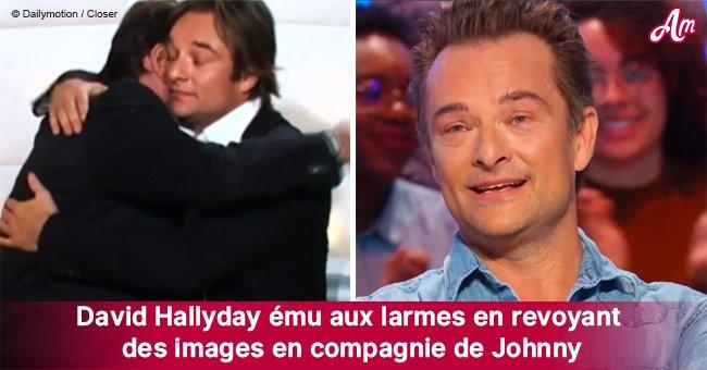 David Hallyday avait les larmes aux yeux pendant qu'il passait en revue des photos avec Johnny (vidéo)