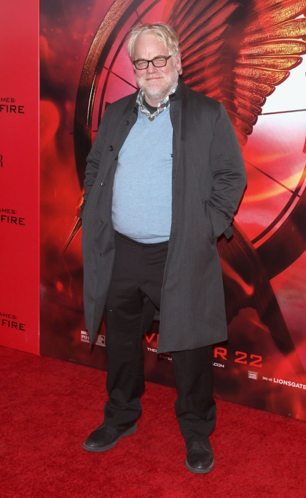 """Philip Seymour Hoffman attends the """"Hunger Games: Catching Fire"""" New York Premiere at AMC Lincoln Square Theater on November 20, 2013 