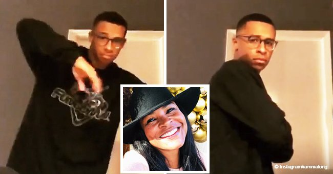 Nia Long's eldest son is all grown up and shows off crazy dance moves in new video shared by mom