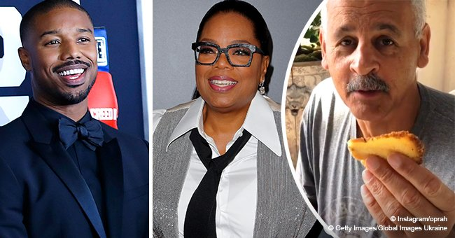 Oprah melts hearts with video of longtime partner enjoying a cake given by Michael B Jordan's mom