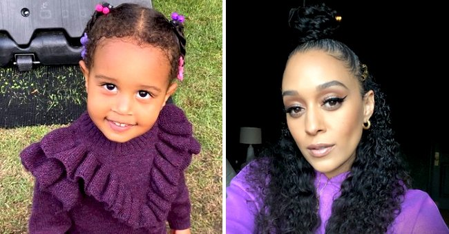 See Tia Mowry's Daughter's Precious Smile & Beautiful Eyes as She Poses in a Purple Outfit