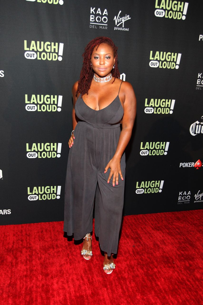 "Torrei Hart attends the launch of ""Laugh Out Loud"" hosted by Kevin Hart And Jon Feltheimer on August 03, 2017 in Los Angeles, California. 