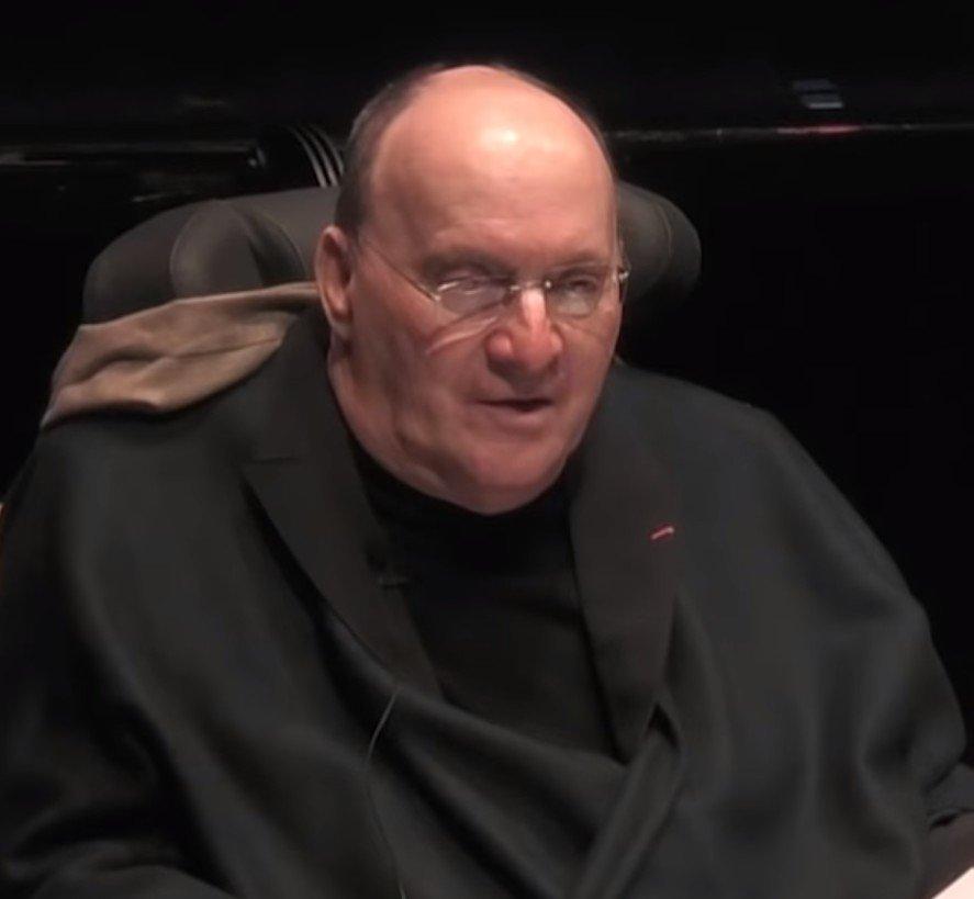 Philippe Pozzo di Borgo au cours d'une conférence. l Source : YouTube/UnivNantes