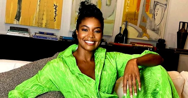 Gabrielle Union's Daughter Is Santa's Little Helper in Adorable Photos Wearing a Green Outfit