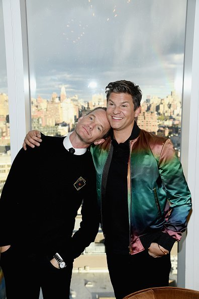 David Burtka and husband Neil Patrick Harris on April 15, 2019, at the Top of the Standard in New York City. | Source: Getty Images.