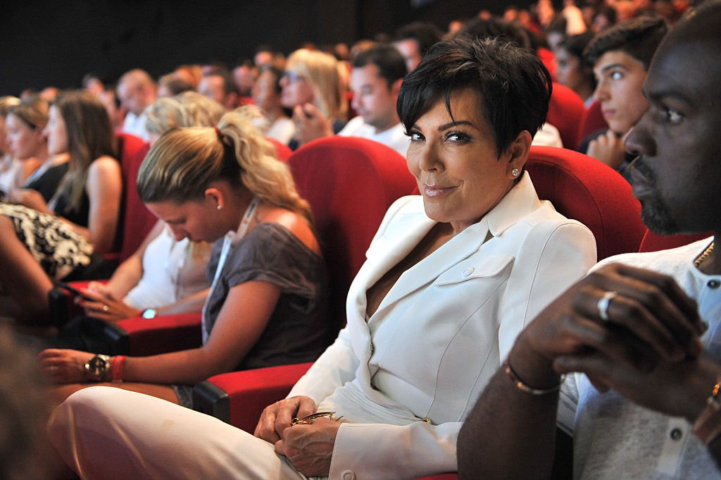 Kris Jenner in the audience as daughter Kim Kardashian speaks on stage during the Sudler seminar as part of the Cannes Lions International Festival of Creativity on June 24, 2015 | Photo: Getty Images