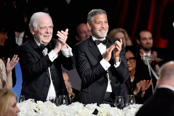 Nick Clooney (L) and honroee George Clooney attend the American Film Institute's 46th Life Achievement Award Gala Tribute to George Clooney at Dolby Theatre on June 7, 2018, in Hollywood, California. Source: Getty Images.