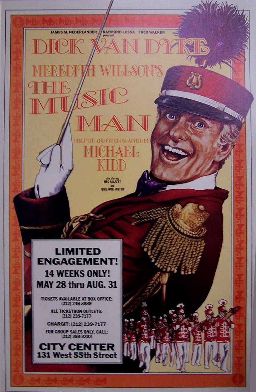 "Original theatre poster for ""The Music Man"" -- 1980 Broadway revival 