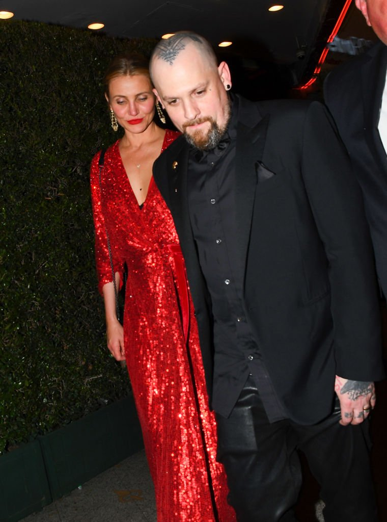 Cameron Diaz and Benji Madden are seen on April 14, 2018 | Photo: Getty Images