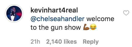 """Kevin Hart responded to a comment from Chelsea Handler on a photo of himself and his wife Eniko Hart having a virtual interview for """"Fablectics"""" sportswear   Source: Instagram.com/kevinhart4real"""