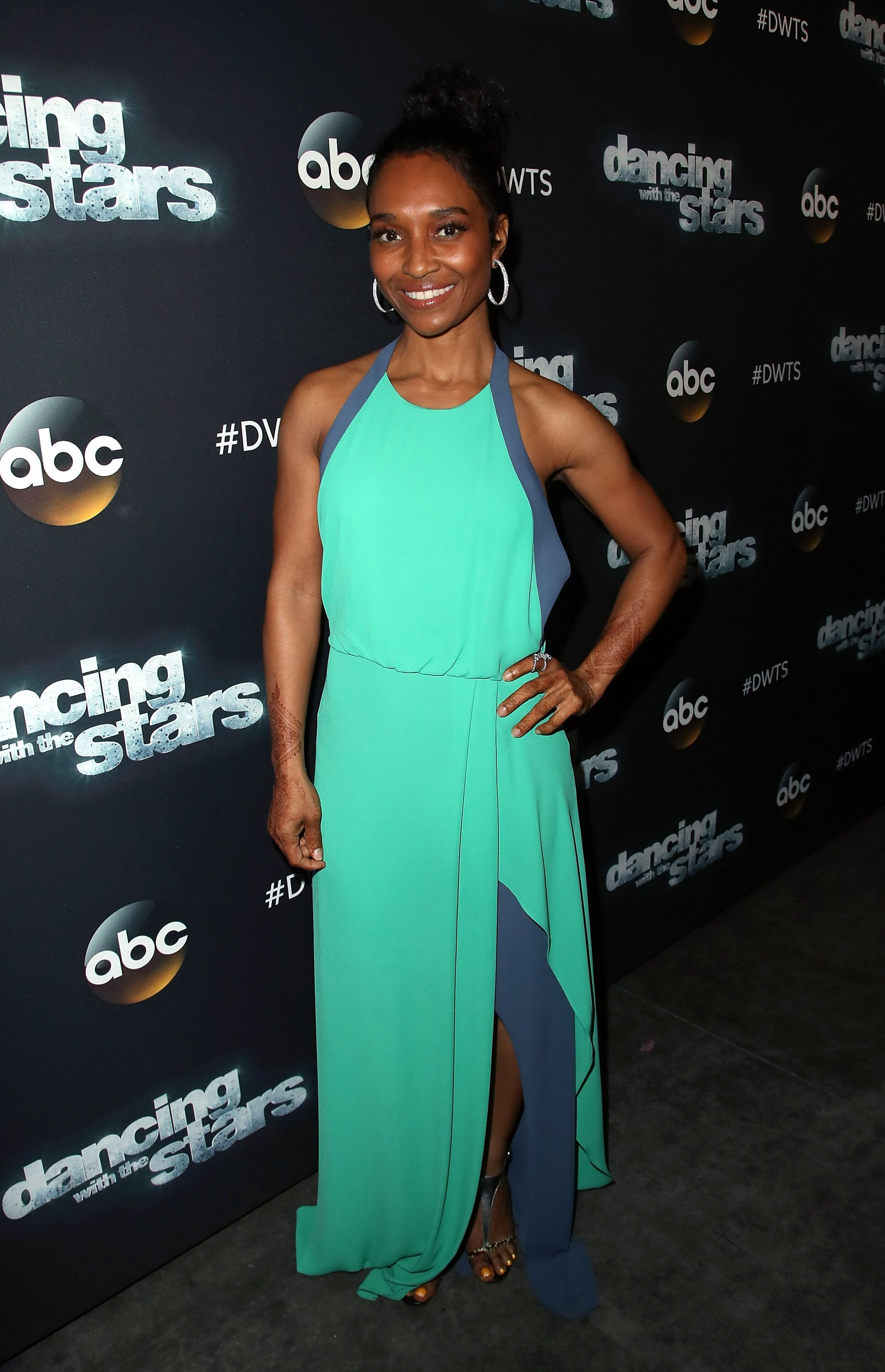 "Rozonda ""Chilli"" Thomas attending ""Dancing With The Stars"" Season 24 in April 2017. 