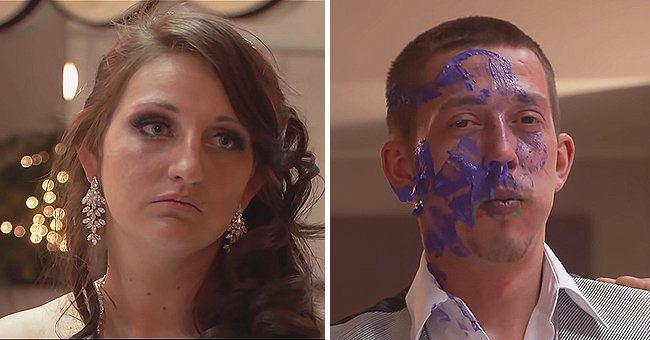 Gypsy bride Cearia and her proposed husband Sam on their wedding day. | Photo: youtube.com/tlc uk