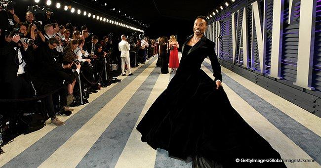 L'acteur Billy Porter se fait remarquer sur le tapis rouge des Oscars 2019 dans une robe