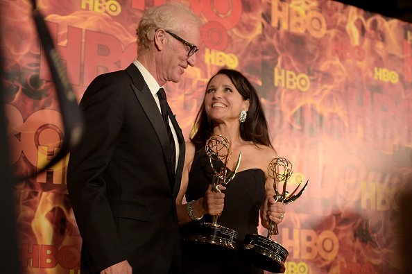 Brad Hall and Julia Louis-Dreyfus attend HBO's Official 2015 Emmy After Party at The Plaza at the Pacific Design Center on September 20, 2015, in Los Angeles, California. | Source: Getty Images.