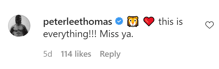 Halle Berry's trainer commenting on one of her Instagram posts. │ Source: Instagram.com/halleberry