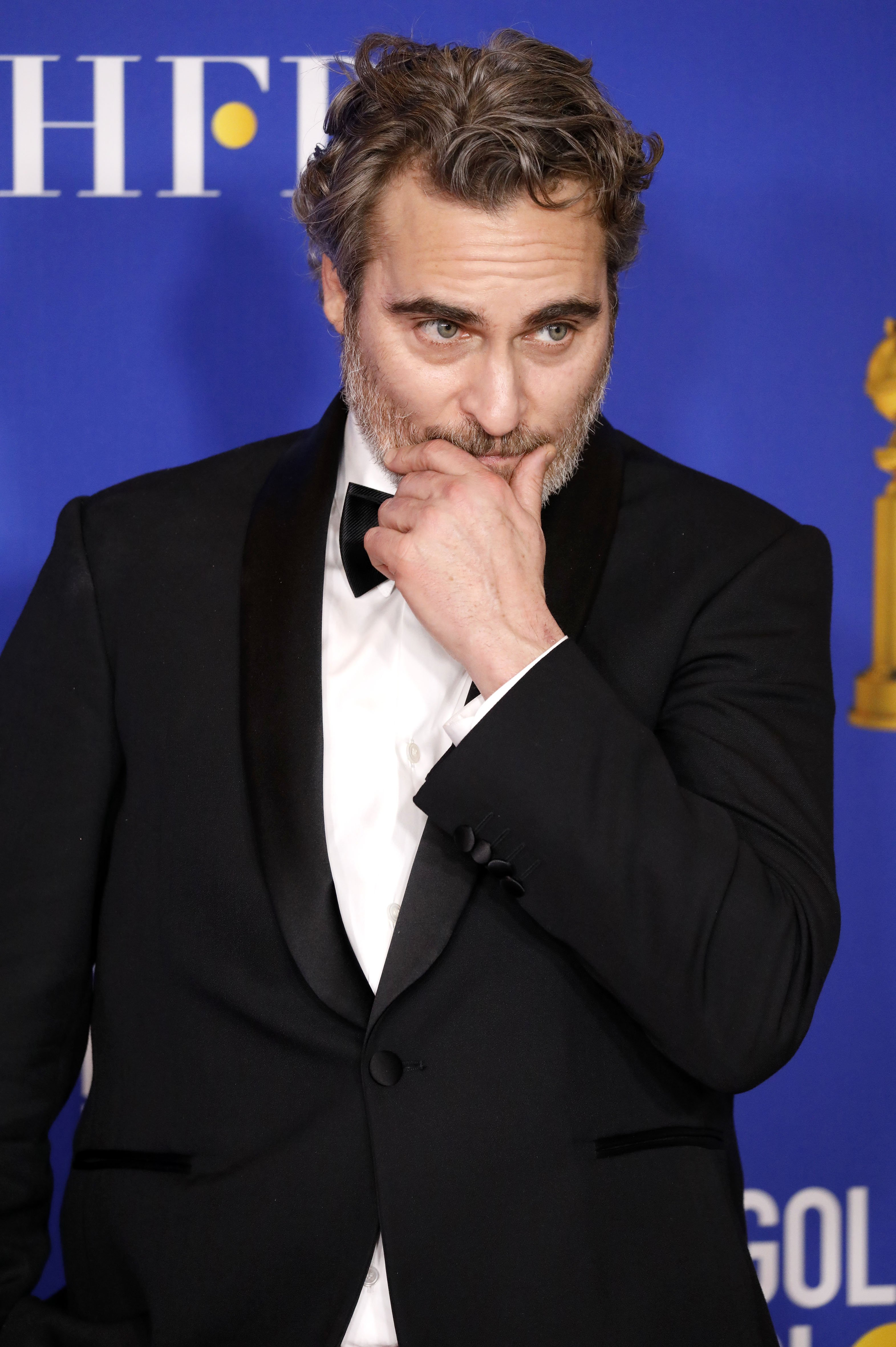 Joaquin Phoenix at the press room of the Golden Globe Awards in Beverly Hills, California on January 5, 2020 | Photo: Getty Images