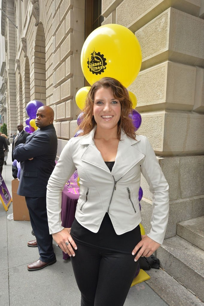"""Winner of """"The Biggest Loser,"""" Danni Allen attends the Planet Fitness Wall Street Grand Opening at Planet Fitness  