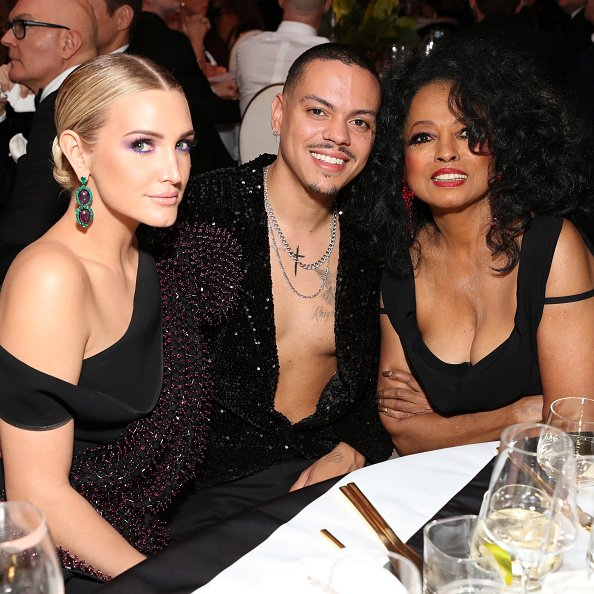 Ashlee Simpson, Evan Ross, and Diana Ross on February 24, 2019 in West Hollywood, California. | Photo: Getty Images
