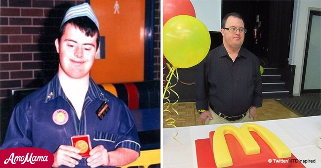 Down's syndrome employee who dedicated 32 years to McDonalds finally retires