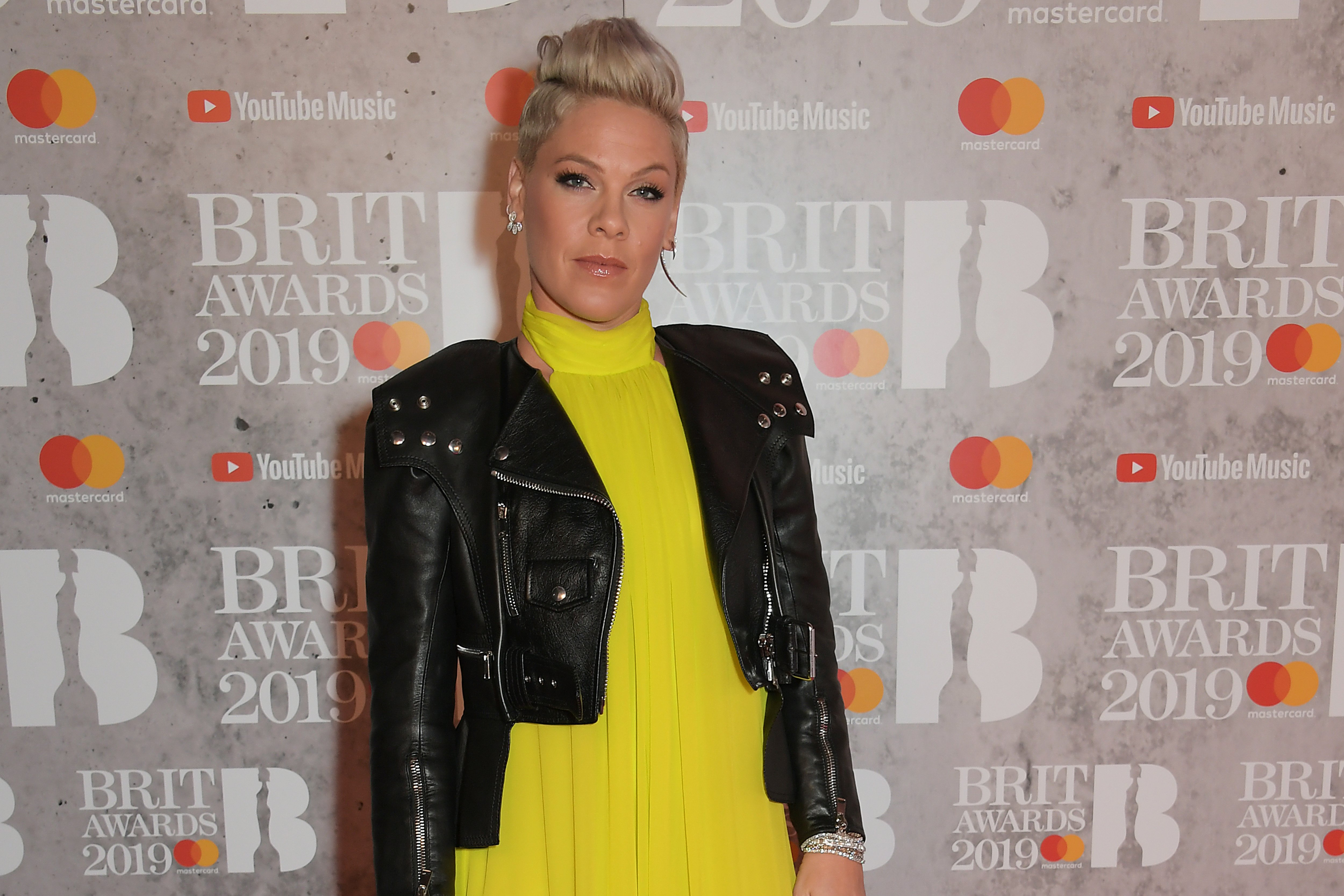 Pink arrives at The BRIT Awards 2019 held at The O2 Arena on February 20, 2019, in London, England. | Source: Getty Images.