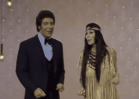 Tom Jones and Cher performing together in 1969.   Source: YouTube/Tom Jones