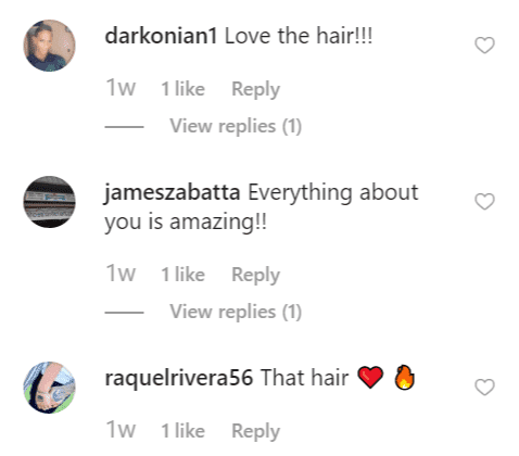 Fan comments on Jaimee Foxworth's post | Instagram: @jaimeethefoxx