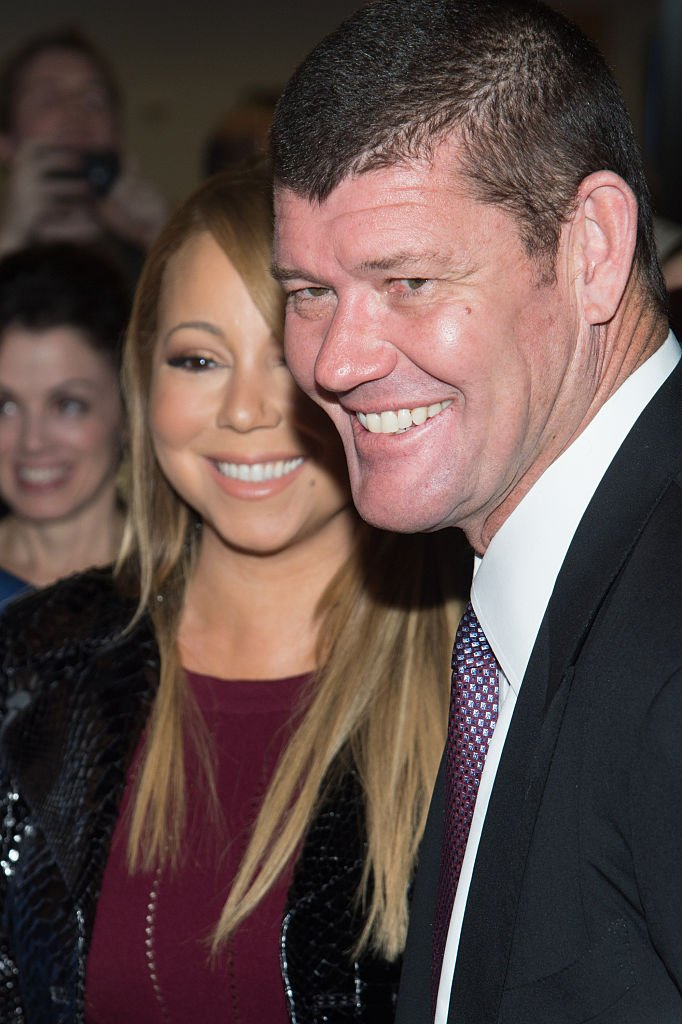 James Packer et Mariah Carey en septembre 2015 à New York. Photo : Getty Images